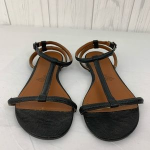 🎯 H& M BLACK STRAPPY SANDALS SIZE 6